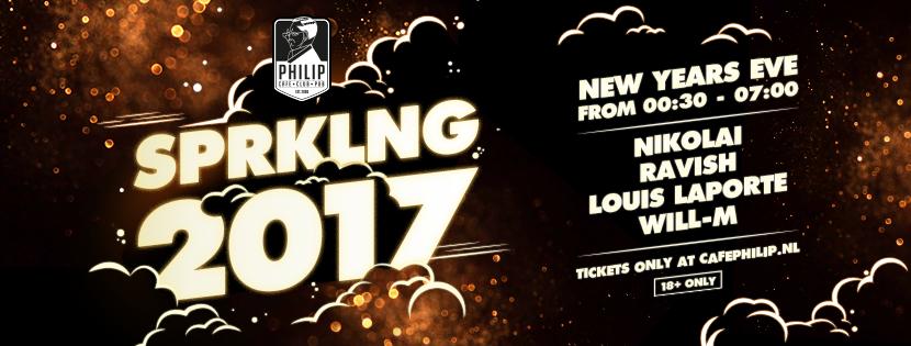 01-01-17   SPRKLNG 2017 – NYE @ Café Philip, Tilburg